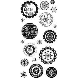 Fiskars Winter Wonderland 4x8 Clear Stamps