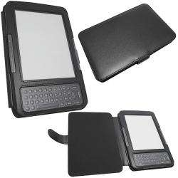 Skque Kindle 3G Wi Fi Black Leather Case