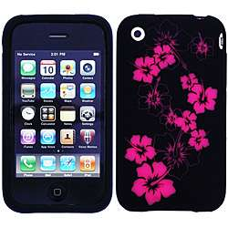 Apple iPhone 3G/3GS Laser cut Hibiscus Skin Case