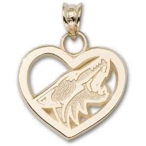 Phoenix Coyotes New Logo Heart Charm/Pendant Sports
