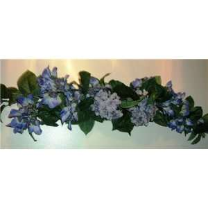 Violet Colored Hydrangea Silk Flower Swag: Home & Kitchen