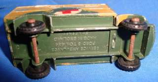 Old Vintage Die Cast Lesney Army Ambulance Toy England