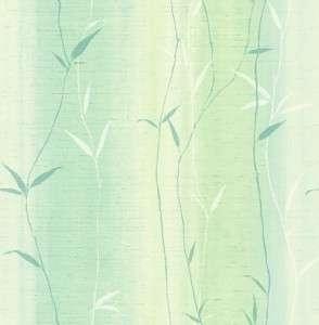 Wallpaper Aqua Teal Blue Green Bamboo Leaf Stripe