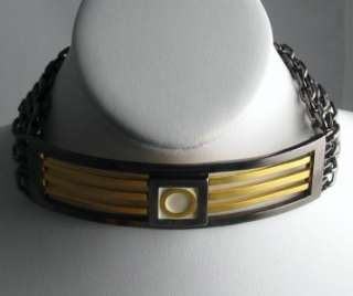 VINTAGE KARL LAGERFELD GRAPHIC CHOKER 1980s
