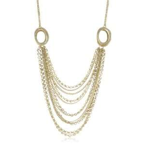 Citrine by the Stones Small Gold Plated Drape Necklace