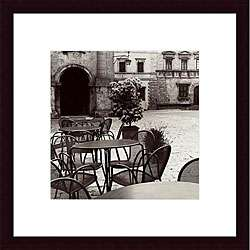Alan Blaustein Caffe, Toscana Wood Framed Print