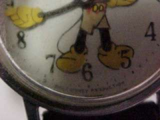Vintg 1970s Walt Disney Productions Mickey Mouse Watch