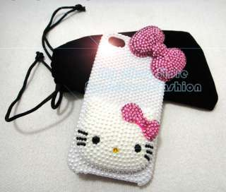 Kitty Crystal Hard Case for AT&T and Verizon iPhone 4 US SELLER