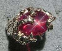 MENS DRAGON 16X12 LINDY LINDE TRANSPARENT STAR RUBY CREATED SAPPHIRE S