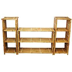 Natural Bamboo Shelf System (Vietnam)  Overstock