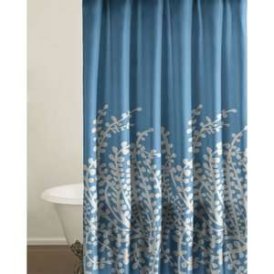 City Scene Branches Shower Curtain in Blue: Kids & Teen Rooms