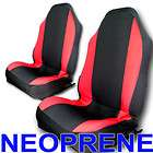 fit Neoprene Front & Rear Car Seat Cover Full Set Jeep Red md12748