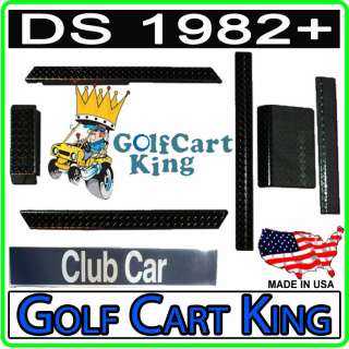 Club Car Golf Cart Black Diamond Plate Accessories Kit