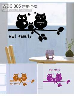 TREE & OWL FAMILY Wall Decor Art Vinyl Sticker Decal VG 006