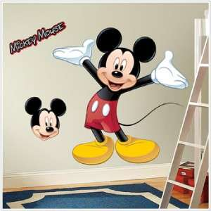 New Giant MICKEY MOUSE WALL DECAL Disney Stickers Decor 034878034881