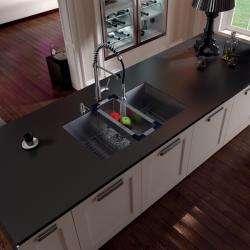 Vigo Undermount Stainless Steel Kitchen Sink, Faucet, Grid, Colander