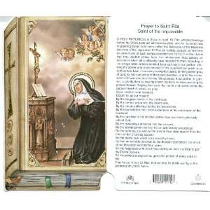 Saint Rita Holy Prayer Card Patron of Difficult Marriages