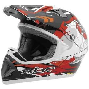 KBC Super X Menace Full Face Helmet Medium  Red Automotive