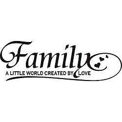 Family A Little World Created by Love Vinyl Wall Art