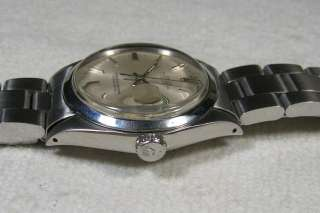 VINTAGE ROLEX OYSTER PERPETUAL DATE STEEL AUTOMATIC WRISTWATCH CALIBRE