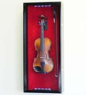 Violin / Mandolin Display Case Cabinet Wall Rack Holder |