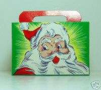New Old Stock 1930s SANTA CLAUS Vintage Candy Gift Box