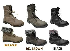 NEW WOMENS FASHION STYLISH LADIES ANKLE ARMY MILITARY COMBAT BOOTS