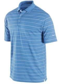 2011 Nike Golf Dri Fit Tech Core Stripe Polo Mens Golf Shirt SS Valor