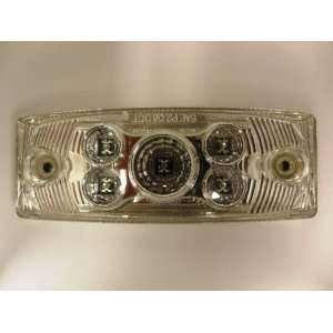 Amber Rectangular LED Clearance/Side Marker Light with Clear Lens