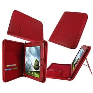 rooCASE Executive Portfolio (Red) Leather Case Cover with