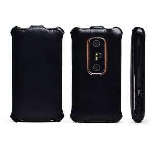 Rock European Leather Flip Cover Case HTC EVO 3D    Black