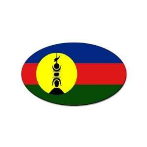 New Caledonia Flag oval sticker