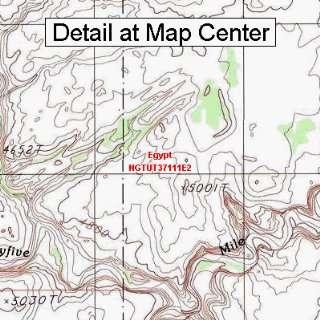 USGS Topographic Quadrangle Map   Egypt, Utah (Folded