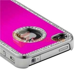 Diamond Aluminium Hard Case Cover+Film Guard for iPhone 4 G 4S