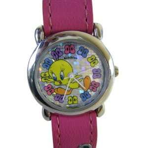 Pink Velcro Tweety Bird Watch   Kids Tweety Watch Toys & Games
