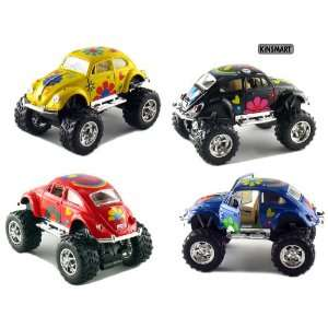 Beetle Monster Wheel with Flowers (Black, Blue, Red and Yellow) Toys