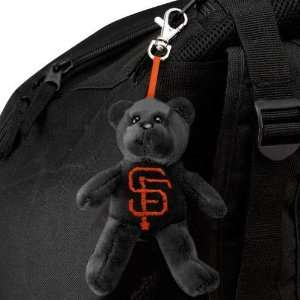 MLB San Francisco Giants Black Plush Bear Keychain