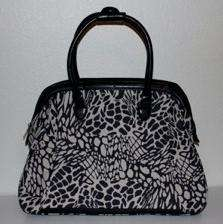 NWT Nicole Miller Animal Print Doctor Bag Purse Luggage