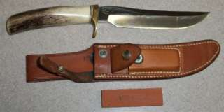 Collectible Randall Made Antler Stag Handle Belt Knife