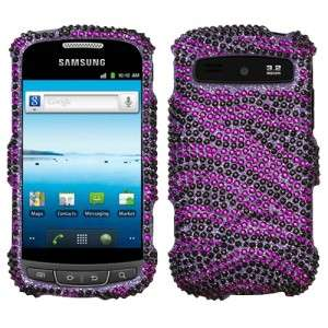 Zebra Crystal BLING Hard Case Phone Cover for Cricket Samsung Vitality