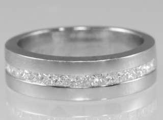 PLATINUM 1/2 ct DIAMOND RING Solid platinum square cut diamond half