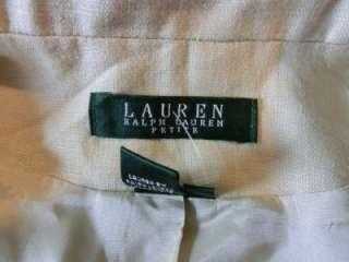 RALPH LAUREN Womens Designer LINEN Blazer Jacket 12 12P