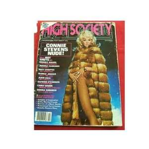 HIGH SOCIETY Magazine October 1979 CONNIE STEVENS