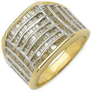 1.67 Carat 14K Gold Plated Genuine Diamond Accents