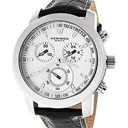 Akribos XXIV Coronis Mens Chronograph Quartz Strap Watch