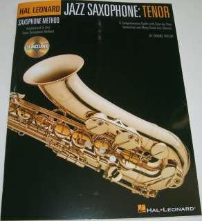 HAL LEONARD JAZZ SAXOPHONE TENOR, Sax Method Book & CD