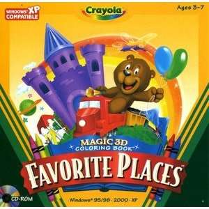 CRAYOLA FAVORITE PLACES   3D COLOR BOOK Toys & Games