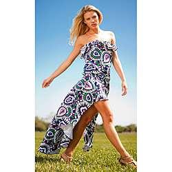 Rachel Lym Womens Lola Mosaic Maxi Dress  Overstock