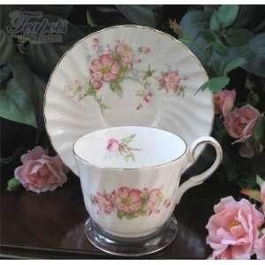 Heirloom Wild Country Rose Bone China Tea Cup & Saucer