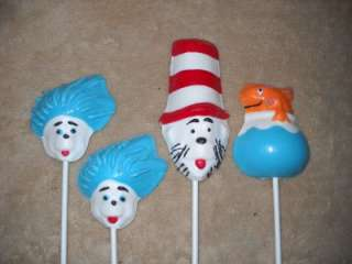 Chocolate LARGE Cat in the Hat Horton Thing Fish Dr Seuss Lollipops